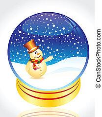 雪 地球, 聖誕節, 人