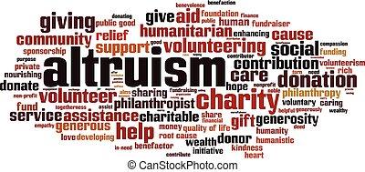 雲, altruism, 詞