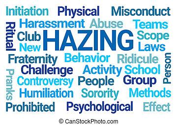 雲, hazing, 詞
