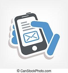 電子郵件, smartphone, 圖象