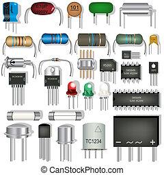 電子, 組成部份