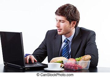 電腦, 工作, 商人