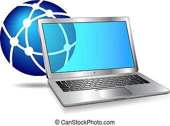 電腦, 網際網路, 网絡, 圖象