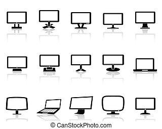 電腦, 集合, 監控, 圖象