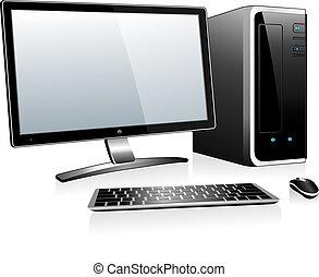 電腦, 3d, 桌面
