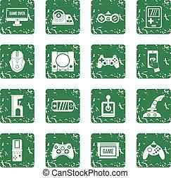 電視游戲, 集合, grunge, 圖象