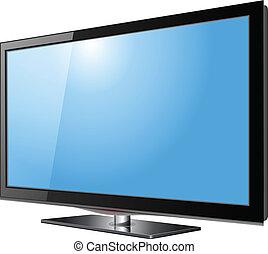 電視, 平的 屏幕