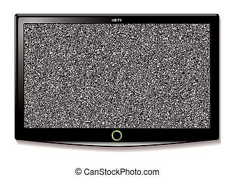 電視, 牆, lcd, 懸挂, 靜態