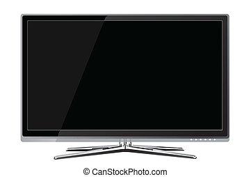 電視, lcd, realisti, 血漿 屏幕, 套間