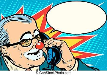 電話, 小丑, 老板
