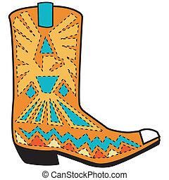 靴子, 藝術, 西方, 夾子