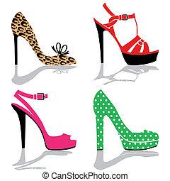 鞋子, 彙整, 婦女