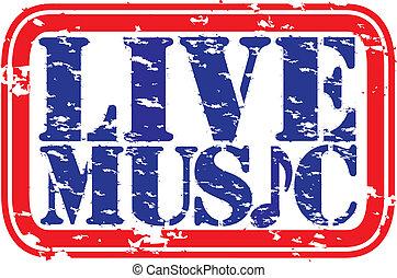 音樂, 街, 活, grunge, 橡膠