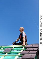 頂部, 屋面工, 屋頂, 坐