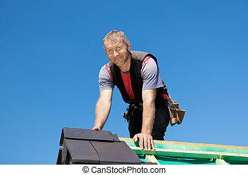 頂部, 屋面工, 屋頂, 微笑