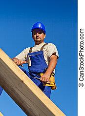 頂部, 工人, 木匠, 屋頂