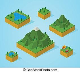 預, 等量, 集合, map-mountain