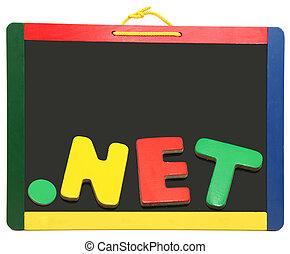 領域, 水平, 頂部, 黑板, 网, 點