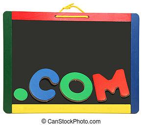 領域, 水平, 頂部, 黑板, com, 點