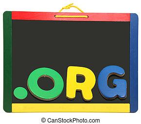 領域, 水平, 頂部, 黑板, org, 點