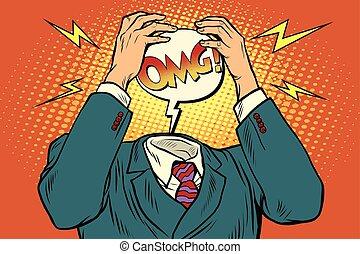 頭疼, 壓力, omg, 或者