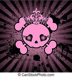 頭骨, 漂亮, 王冠