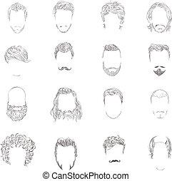 頭髮麤毛交織物風格, 集合, 人