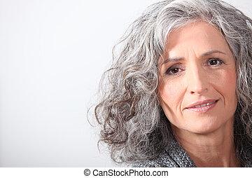 頭髮, 灰色, 婦女肖像