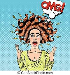 頭髮, 進取, 狂怒, 飛行, 流行音樂, 尖聲叫, 藝術, 婦女
