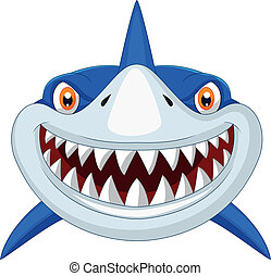 頭, 卡通, 鯊魚