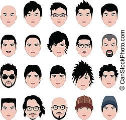 頭, 發型, 臉, 頭髮, 男性, 人