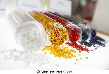 顆粒, 鮮艷, 塑料, 聚合物