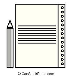顏色鉛筆, 紙, 表