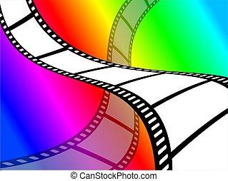 顏色, 牆紙, 電影