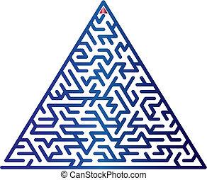 顏色, 矢量, maze., illustration.