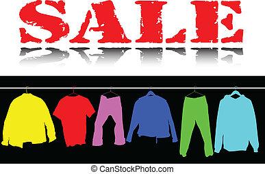 顏色, 衣服, 銷售, 插圖