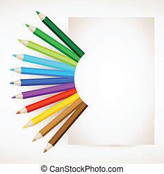 顏色, 鉛筆, 紙
