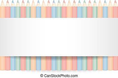 顏色, 鉛筆, 行