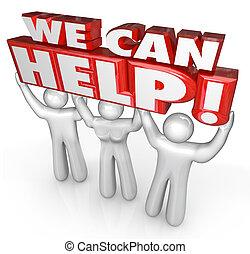 顧客, 我們, 幫助, 服務, 支持, 幫手, 罐頭