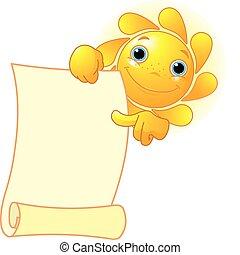 顯示, 太陽, 紙卷