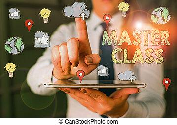 顯示, 概念性, 相片, class., 給, 正文, 掌握, 學生, 特殊, expert., 學科, 類別, 簽署