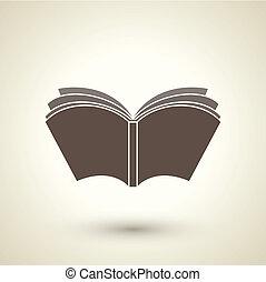 風格, 書, 打開, retro, 圖象