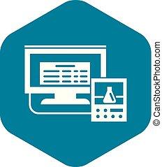 風格, 監控, 簡單, 實驗室, 數字, 圖象