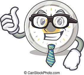 風格, 眼鏡, 商人, 吉祥人, 老, 卡通, 定時器, 領帶, 廚房