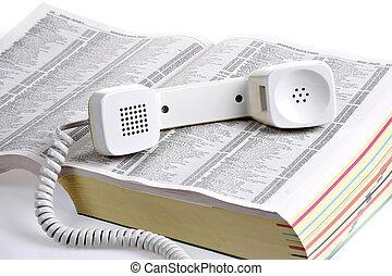風格, 老, 在上方, 黃色, 電話簿