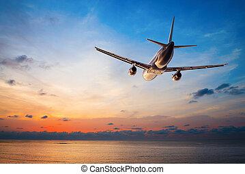 飛行, 傍晚的飛机