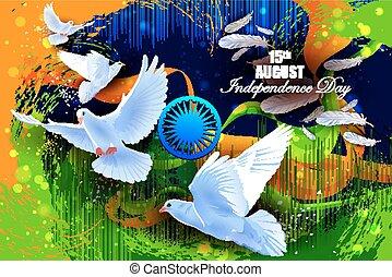 飛行, 印第安語, 背景, 鴿, 天, 獨立, 慶祝