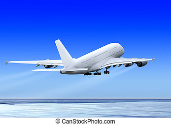 飛行, 向上, 飛機