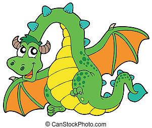 飛行, 綠色的龍