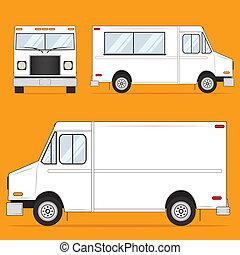 食物, 卡車, 空白